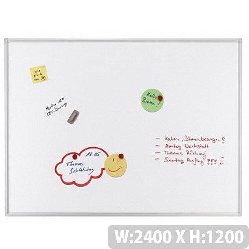 Franken ECO Magnetic Whiteboard Enameled Steel 2400 x 1200mm White SC4206