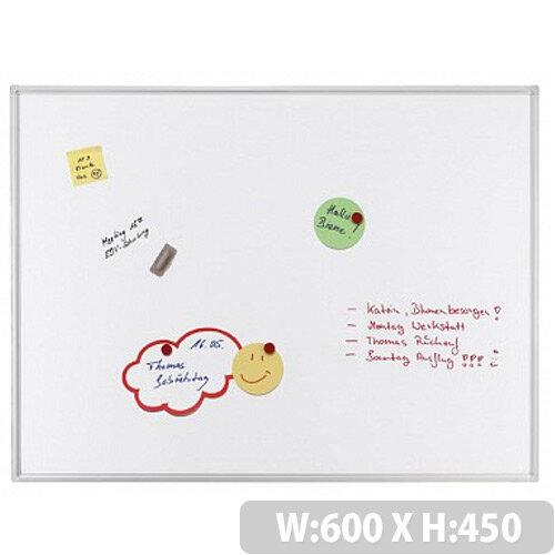 Franken ECO Magnetic Whiteboard Enameled Steel 600 x 450mm White SC4212