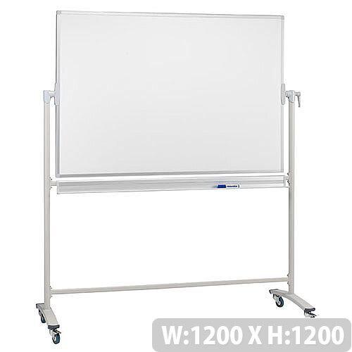 Franken Mobile Revolving Whiteboard 1200 x 1200 Lacquered Surface Steel Frame STC206