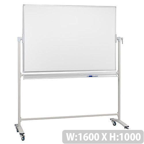 Franken Revolving Magnetic Whiteboard Enamel/Projection Mobile Aluminium Frame 1600x1000mm ST216
