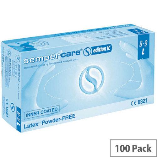 SemperCare Edition Latex Gloves LARGE Powder Free (100) Box G823781737