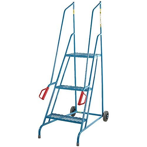 Fort Dock Access Steps 3 Expanded Steel Treads Height 1.46m Capacity 150kg GSD703M