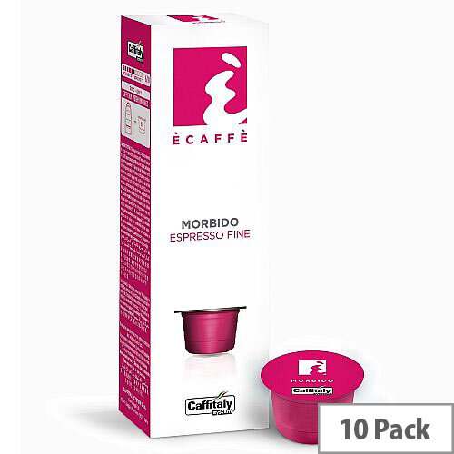 Morbido Ecaffe Caffitaly Coffee Pods Sleeve of 10 Capsules