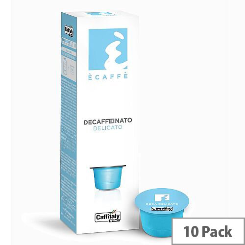 Delicato Ecaffe Caffitaly Decaffeinated Coffee Pods Sleeve of 10 Capsules