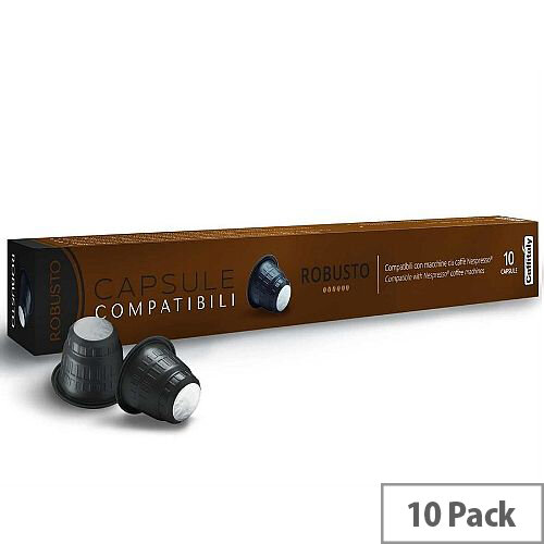 Robusto Nespresso Compatible Coffee Pods Pack of 10 Capsules