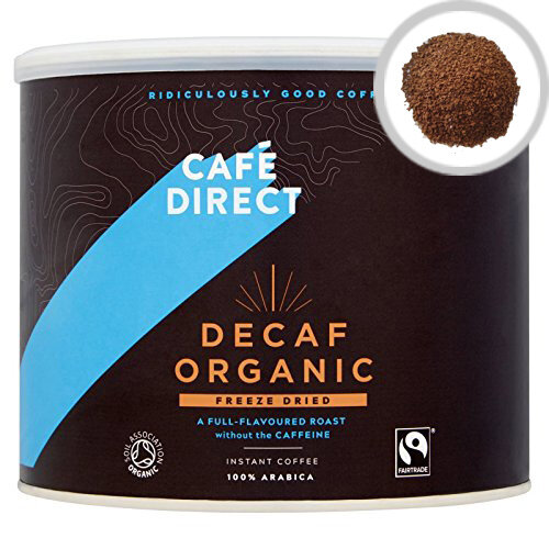 Cafedirect Medium Roast Decaffeinated Instant Freeze Dried Coffee 500g Tin Pack of 1 TW141002