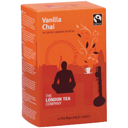 London Tea Vanilla Chai Tea Pack of 20 FLT19149