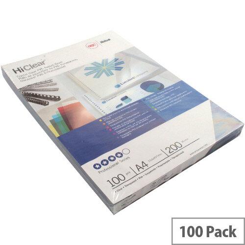 GBC Clear Comb Binding Covers PVC 200 micron A4 Pack 50x2 CE012080E