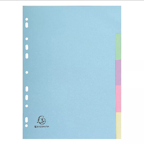 Exacompta Forever A4 Pastel Dividers 5 Part 1605E