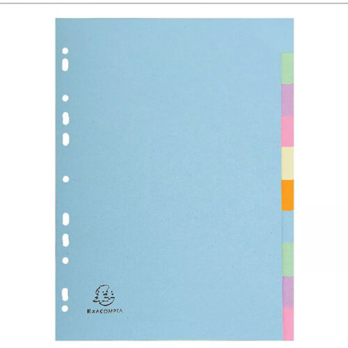 Exacompta Forever A4 Pastel Dividers 10 Part 1610E