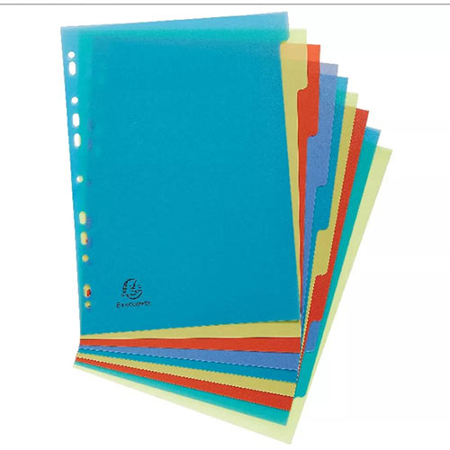 Forever Recycled Polypropylene A4 10 Part Dividers 2710E
