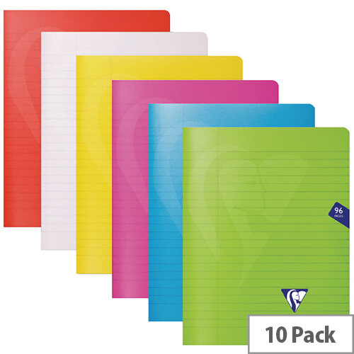 Clairefontaine Mimseys Notebook A5 Assorted Pack of 10 303745C