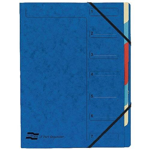 Europa 7-Part Organiser A4 Blue 5219Z