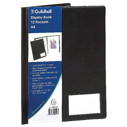 Guildhall Goldline Display Book A4 12 Pocket Black CDB12Z