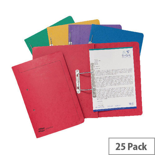 Europa Assorted Spiral Files A4 Pack of 25