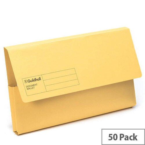 Guildhall Document Wallet Blue Angel Yellow GDW1-YLW
