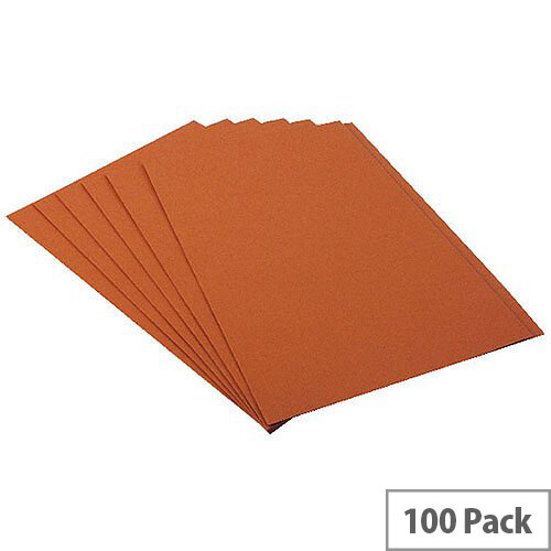 Guildhall Square Cut Foolscap Folder 315g Orange Pack of 100