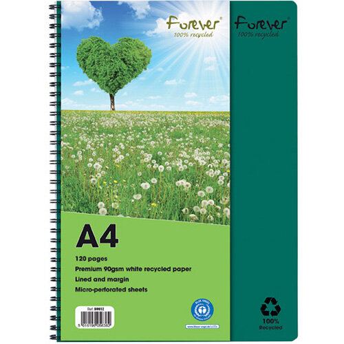 Forever Notebook A4 Green Pack of 5 5901Z