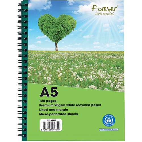 Forever Notebook A5 Green Pack of 10 5911Z
