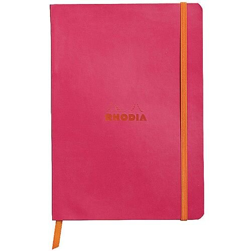 Rhodiarama Notebook Soft Cover A5 160 Pages Raspberry 117412C