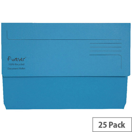Guildhall Forever Bright Blue Document Wallet Pack of 25 211/5001