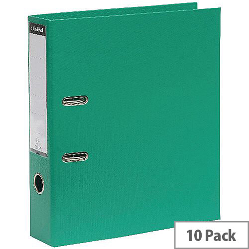 Guildhall Lever Arch A4 File 70mm Green Pack of 10 222/2003Z