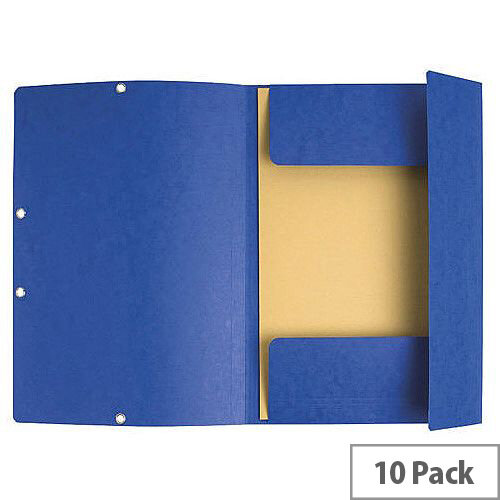 Europa Dark Blue Portfolio File Pack of 10