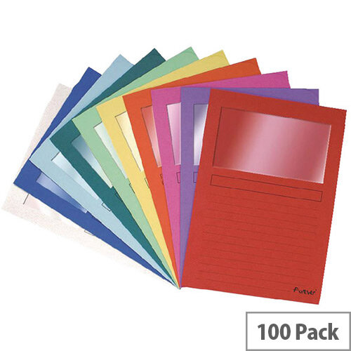 Forever Window File A4 Assorted Pack of 100 50100E