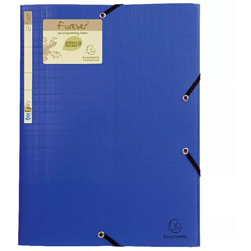 Forever Elasticated 3 Flap Folder Blue Pack of 15 551572E