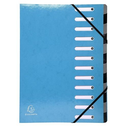 Exacompta Iderama 12 Part File Light Blue