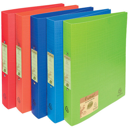 Forever Ring Binder Polpropylene A4 30mm Assorted Pack of 10 542570E