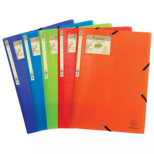 Forever Elasticated 3 Flap Folder Assorted Pack of 15 551570E