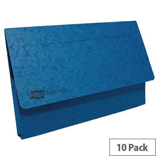Europa Pocket Wallet Foolscap Blue Pack of 10 5255Z