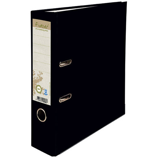 Forever PremTouch Lever Arch File A4 80mm Black Pack of 10 12345E