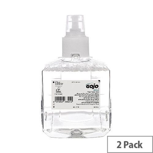 Gojo Mild Foam Hand Soap LTX-12 1200ml Refill Cartridges (Pack of 2) 1911-02-EEU