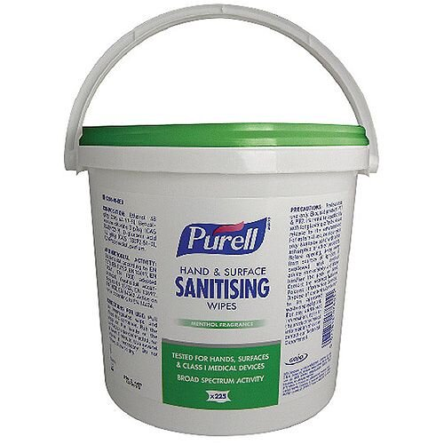 Purell Hand &Surface Sanitising Wipes 225 Pack 92206-06-EEU