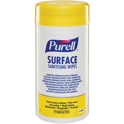 Purell Surface Sanitising Wipes Pack of 100 95102-12-EEU
