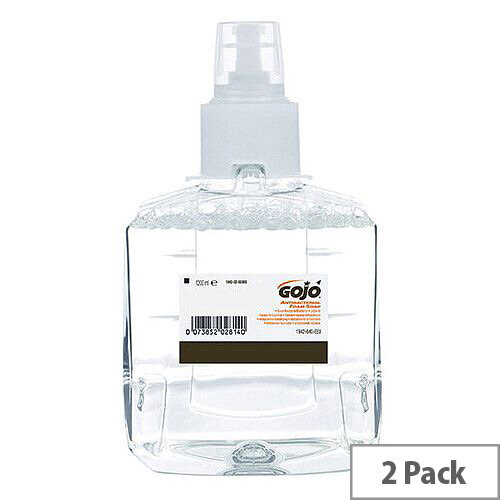 Gojo Antibacterial Foam Handwash Soap LTX-12 1200ml Refill Cartridges (Pack of 2) 1952-02-EEU00
