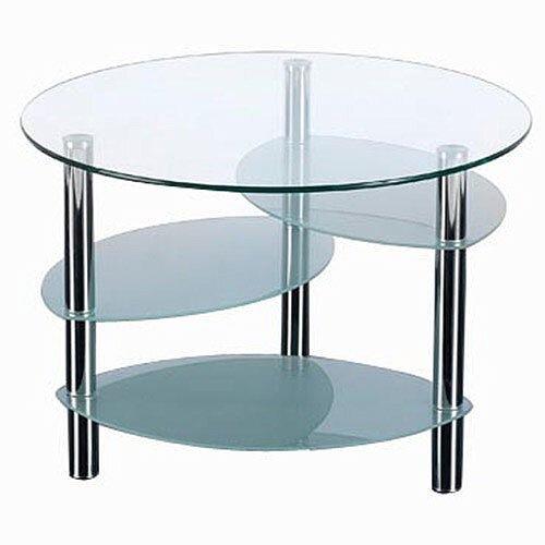 Circular Glass &Chrome Coffee Table