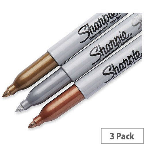 Sharpie Metallic Pk 3 Gold/Silver/Bronze