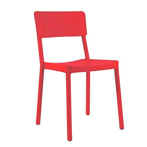 Jackie Outdoor Stacking Side Chair Red