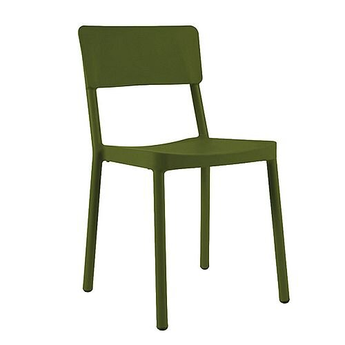Jackie Outdoor Stacking Side Chair Green Olive