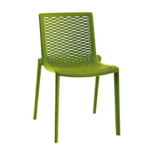 Katie Outdoor Stacking Side Chair Green Olive