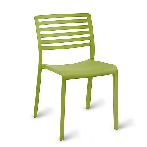 Sophie Outdoor Stacking Side Chair Green Olive
