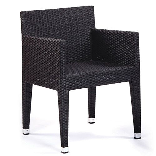 Sorrento Black Weave Outdoor Box Chair