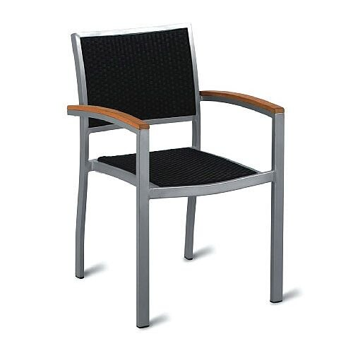 Geneva Weave Outdoor Stacking Arm Chair