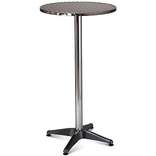 Tall Aluminium 600mm Diameter Round Outdoor Cafe Bistro Table