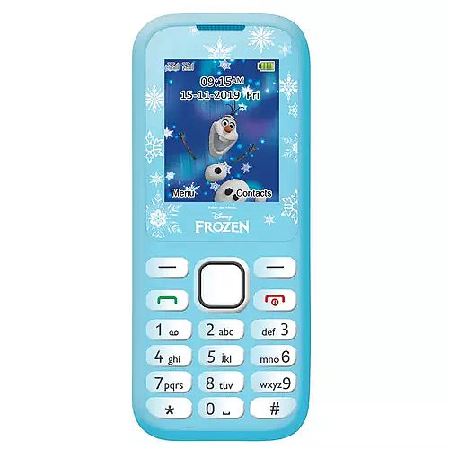 Lexibook Disney Frozen Dual Sim 2G Mobile Phone FM Radio, Bluetooth and Torch light - Blue - GSM20FZ