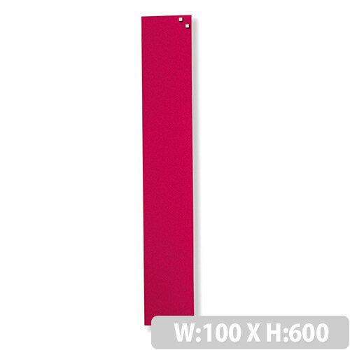 Franken Glass Magnetic Board 100x600mm Red GT106001