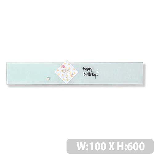 Franken Glass Magnetic Board 100x600mm White GT106009